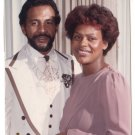 Vintage 1970s African American Cute Glamour Couple Old Color Photo CO16