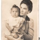 Vintage African American Biracial Mother w/ Child Old Photo Black Americana V082
