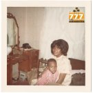 Vintage 1970s African American Mother with Boy Child Old Color Photo CO18