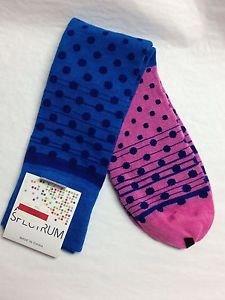 Macy's alfani spectrum socks NWTS dark turqouise pink polka dots