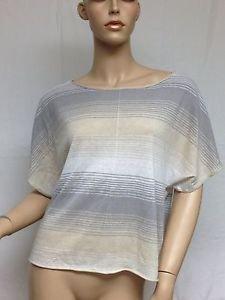 michael stars dolman sleeve beige grey white striped $118 NWT short sleeve