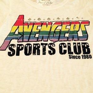 Marvel Vintage Avenger Sport Club Signorelli Vintage Burnout Sparkle NWTs sz12