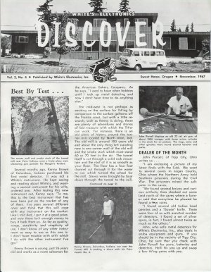 Discover Newsletter November 1967 White's Electronics