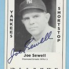 Joe Sewell autographed TCMA Card 1979 #5 Yankees