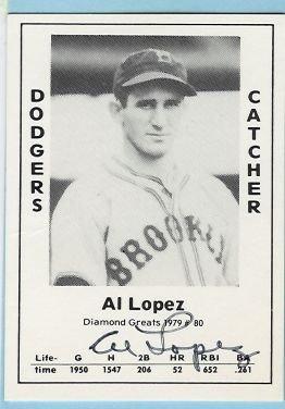 Al Lopez Autograph card TCMA # 80 1979