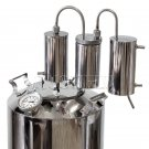 5 Gal Alcohol distiller Moonshine still reflux whiskey still pot home brew kit