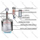 15L Russian Alcohol Distiller Moonshine still Reflux Vodka whiskey home brew kit pot 4 gal
