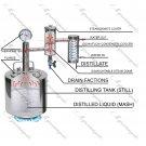 15L Russian Alcohol Distiller Moonshine still Reflux Vodka whiskey home brew kit pot 4 gal