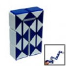 Blue and White Magic Cube Ruler Brains Puzzle Game Fun Toy