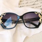 NEW Women's Vintage Oversized Designer Retro Fashion Sunglasses Rose Gold Scroll