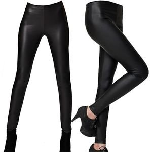 NEW Leather Stretch Pants Leggings, Black, Small or Medium, i.e H&M Zara Express