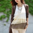 NEW Ladies Chiffon Sleeveless Shirt Career Top Blouse, Medium, i.e Zara Yesstyle