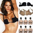 NEW Amazing Multi Way Add 2 Cup Push Up Plunge U Bra Low Back Style in 34B, Nude
