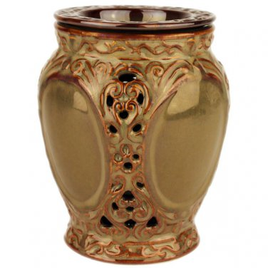 Warm Brown Ornate Tart Electric Ceramic Warmer