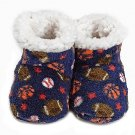 Navy Skidders® Sport Love Size 6-12M Plush Booties