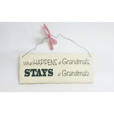 Grandma's Country Wood & Wire Wall Plaque