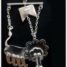 Lion Marionette Sterling Silver Pendant / Key Chain -  Handmade