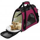 Pet Carrier Sided Cat / Dog Travel Tote Bag Airline Approved Spanish Hot Pink