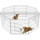 """24"""" Tall Wire Fence Pet Dog Folding Exercise Yard 8 Panel Metal Play-Pen"""
