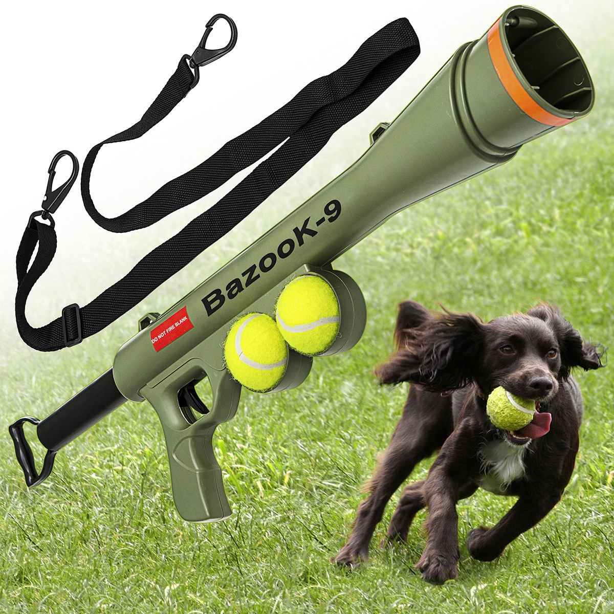 BazooK-9 Dog Tennis Ball Toy Launcher for Pet Training ...