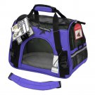 Pet Carrier Soft Sided Small Cat Dog Comfort Lavender Purple Bag Travel Approve