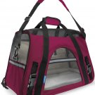 Pet Carrier Soft Sided Small Cat Dog Comfort Juicy Hot Pink Bag Travel Approved