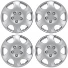 "4 Piece Set A/M Silver ABS Fits 2003 2004 TOYOTA COROLLA 15"" Wheel Cover Hub Cap"