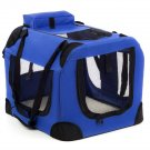 Dog Crate Soft Sided Pet Carrier Foldable Training Kennel Portable Cage House-MM