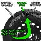 "4 Piece Set 14"" Inch Fit Hub Cap Silver Lug Full Skin Rim Cover for Steel Wheel"