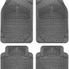 Car Floor Mats for Toyota Camry 4pc Set All Weather Rubber Eagle Fit Grey