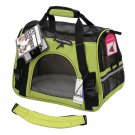 Pet Carrier Soft Sided Large Cat / Dog Comfort Spinach Green Bag Travel Approved