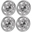 "1 Pc of 15"" Silver/Black Hub Caps Full Lug Skin Rim Cover for OEM Steel Wheels"
