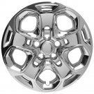 "Ford Fusion 1pc of Steel Wheel Bolt On CHROME 17"" Hub Caps 5 Spoke A/M Rim Skin"