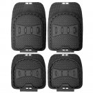 Auto Floor Mats for BMW Car SUV 4pc Set All Weather Rubber Deep Dish Fit Black