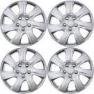 """4 Piece Set A/M Silver ABS Fits 2010 2011 TOYOTA CAMRY 16"""" Wheel Cover Hub Caps"""