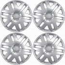 "4 Piece Set Silver ABS Fits 2004 2005 2006 2007 TOYOTA SIENNA 15"" Wheel Hub Caps"
