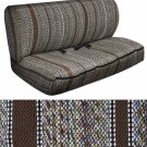 Car Seat Covers Brown Western Woven Saddle Blanket 2pc Bench for Auto