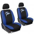 Car Seat Covers Embroidered Dolphin 6pc Bucket for Auto Detachable Head Rests