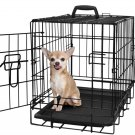 """OxGord 20"""" Pet Kennel Cat Dog Folding Steel Crate Animal Playpen Wire Metal Cage"""