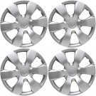 "NEW 4 Piece Set A/M Silver ABS Fits 2007 TOYOTA CAMRY 16"" Wheel Cover Hub Caps"