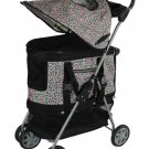 New Pink Leopard Ultimate 4 In 1 Pet Stroller/Carrier/CarSeat