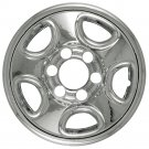 "1pc GMC 6 Lug 16"" Chrome Wheel Skin Rim Hub Cap Cover For 5 Spoke Steel Wheel"