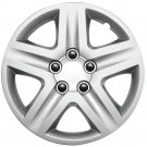 "1pc Chevy Impala Steel Wheel Snap On SILVER 16"" Hub Caps 5 Spoke A/M Skin Cover"
