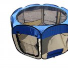 BestPet Small Dog Cat Tent Puppy Playpen Exercise Pen Soft With Carry Case Blue