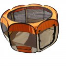 BestPet Small Dog Cat Tent Puppy Playpen Exercise Pen With Carry Case Orange
