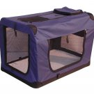 "New BestPet 42"" Folding Navy Blue Pet Dog House Soft Crate Carrier w/Carry Case"