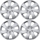 """4 Piece Set A/M Silver ABS Fits 2010 2011 TOYOTA CAMRY 15"""" Wheel Cover Hub Caps"""