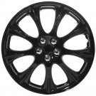 "1 Piece of 14"" Inch Ice Black Hub Caps Full Lug Skin Rim Cover for OEM Steel Wheel"