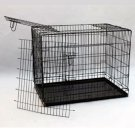 "New 48"" 3 Door Black Folding Dog Crate Cage Kennel With Divider"