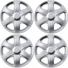 "NEW 4 Piece Set A/M Silver ABS Fits 2009 TOYOTA MATRIX 16"" Wheel Cover Hub Caps"